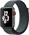Apple - Apple Watch Nike+ (GPS + Cellular), 42mm Space Gray Aluminum Case with Midnight Fog Nike Sport Loop - Space Gray Aluminum