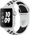 Apple - Apple Watch Nike+ Series 3 (GPS), 38mm Silver Aluminum Case with Pure Platinum/Black Nike Sport Band - Silver Aluminum