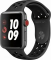 Apple - Apple Watch Nike+ Series 3 (GPS + Cellular), 42mm Space Gray Aluminum Case with Anthracite/Black Nike Sport Band - Space Gray Aluminum-6090615