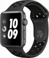 Apple - Apple Watch Nike+ Series 3 (GPS), 42mm Space Gray Aluminum Case with Anthracite/Black Nike Sport Band - Space Gray Aluminum-6215901