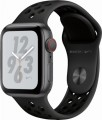Apple - Apple Watch Nike+ Series 4 (GPS + Cellular), 40mm Space Gray Aluminum Case with Anthracite/Black Nike Sport Loop - Space Gray Aluminum